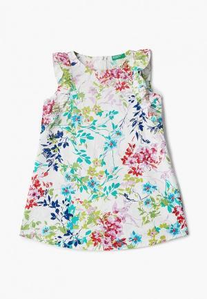 Платье United Colors of Benetton. Цвет: белый