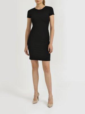 Платье с коротким рукавом Armani Exchange. Цвет: chernyy