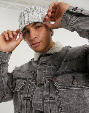 Серая джинсовая куртка с искусственным мехом Levis modern type 2-Серый Levi's