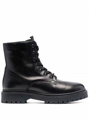 Ботинки Bleyze в стиле милитари Geox. Цвет: черный