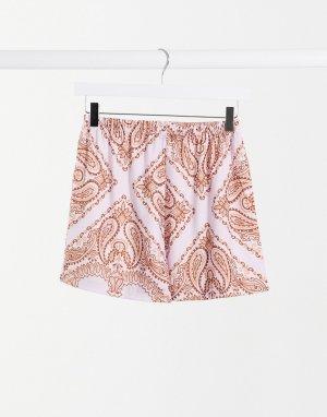 Пляжные шорты с лиловым принтом пейсли от комплекта -Мульти ASOS DESIGN