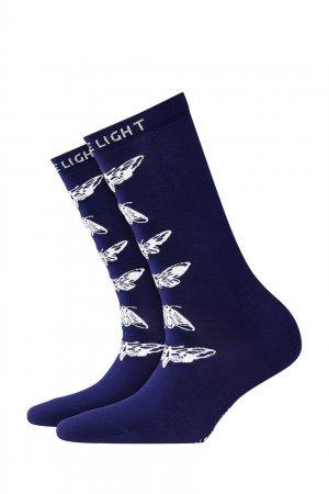 Синие носки Moth Burlington. Цвет: синий