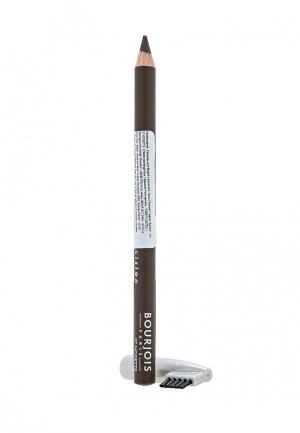 Карандаш для бровей Bourjois контурный sourcil precision Тон 07 noisette. Цвет: коричневый