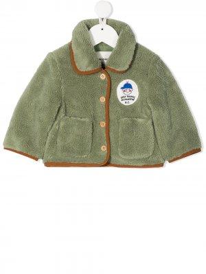 Куртка Patch из шерпы Bobo Choses. Цвет: зеленый
