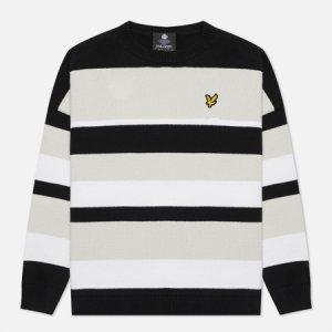 Женский свитер Stripe Jumper Lyle & Scott. Цвет: чёрный