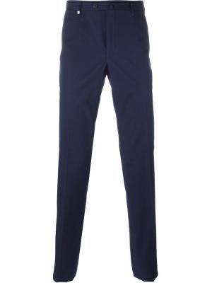 Классические брюки Corneliani. Цвет: синий