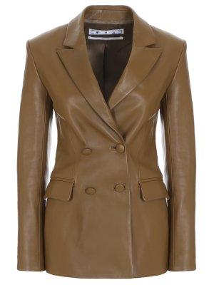 Пиджак кожаный OFF-WHITE
