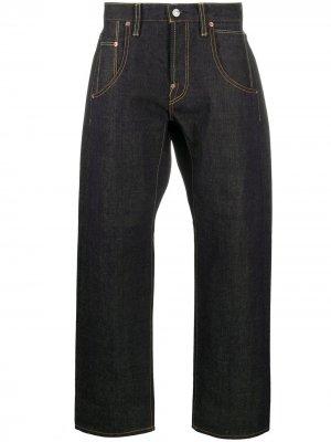 Junya Watanabe Man X Levis укороченные джинсы широкого кроя Levi's. Цвет: синий