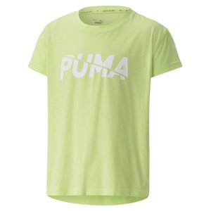 Детская футболка Modern Sports Logo Tee PUMA. Цвет: зеленый