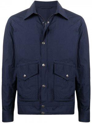 Легкая куртка с воротником Man On The Boon.. Цвет: синий