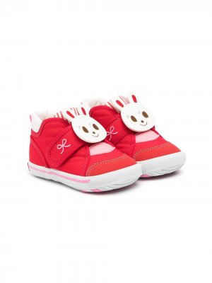 Touch-strap patch-detail trainers Miki House. Цвет: красный