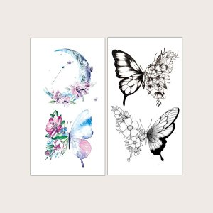 2 листа Чехол для телефона с узором бабочки SHEIN. Цвет: многоцветный