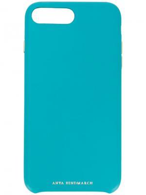 Чехол для iPhone 8 Plus Pimp Your Phone Anya Hindmarch. Цвет: синий