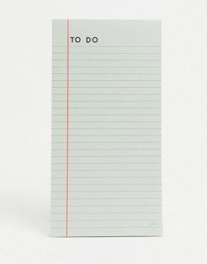 Блокнот для записи текущих дел -Многоцветный TYPO