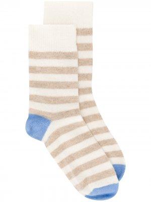 Кашемировые носки в полоску Chinti and Parker. Цвет: нейтральные цвета