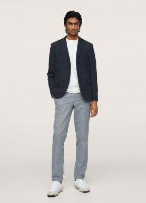 Трикотажный пиджак из хлопка - Verner Mango. Цвет: темно-синий