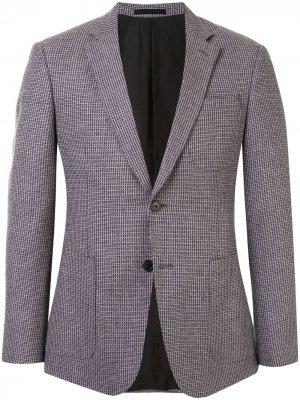 Фактурный пиджак Kent & Curwen. Цвет: разноцветный