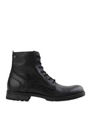 Полусапоги и высокие ботинки JACK & JONES. Цвет: стальной серый
