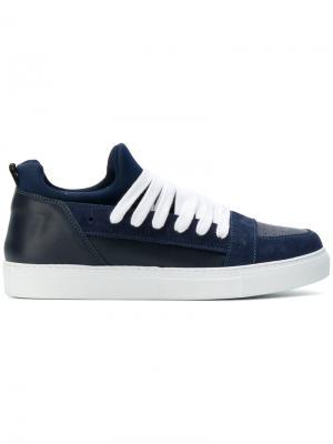Кроссовки со шнуровкой Kris Van Assche. Цвет: синий