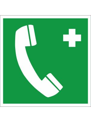 Наклейка информационная Телефон связи с медицинским пунктом (скорой медицинской помощью) (2 шт.) Оранжевый Слоник. Цвет: зеленый