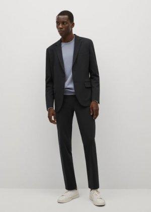 Костюмный пиджак slim-fit из хлопка - Fabre Mango. Цвет: темно-синий
