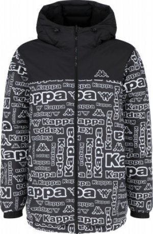 Куртка утепленная мужская , размер 48 Kappa. Цвет: черный