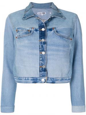 Джинсовая куртка с карманами Re/Done. Цвет: синий