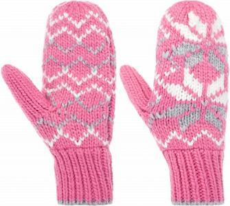 Варежки женские Ainikka, размер 46 Luhta. Цвет: розовый
