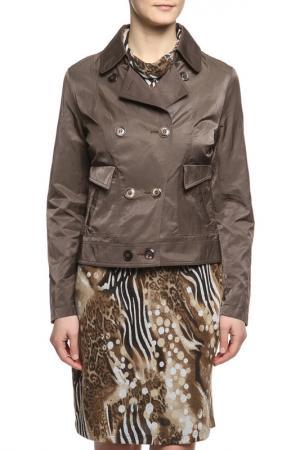 Куртка L-Design. Цвет: коричневый