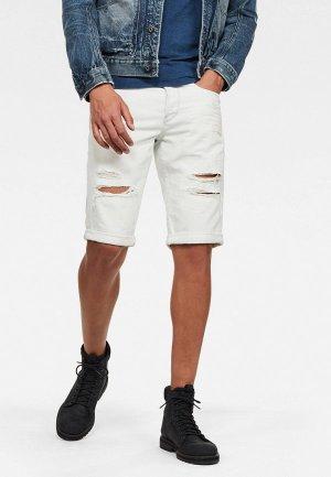Шорты джинсовые G-Star. Цвет: белый