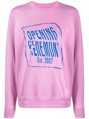 Толстовка с логотипом Opening Ceremony. Цвет: розовый
