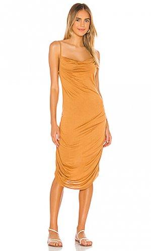 Платье миди cloud Indah. Цвет: цвет загара