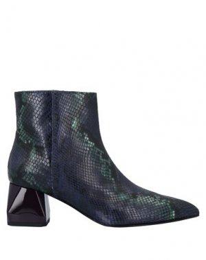 Полусапоги и высокие ботинки ALBERTO GOZZI. Цвет: темно-синий