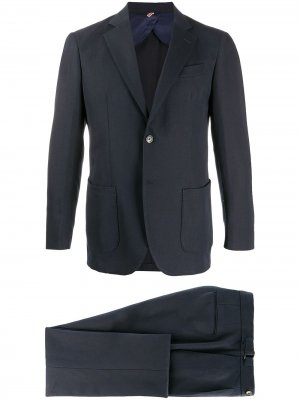Delloglio костюм-двойка с однобортным пиджаком Dell'oglio. Цвет: синий