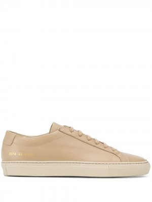Low-top leather trainers Common Projects. Цвет: нейтральные цвета