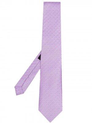 Жаккардовый галстук с узором пейсли ETRO. Цвет: фиолетовый
