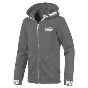 Детская толстовка Amplified Hooded Jacket PUMA. Цвет: черный