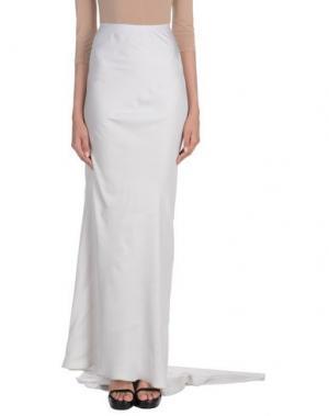 Длинная юбка GARETH PUGH. Цвет: светло-серый