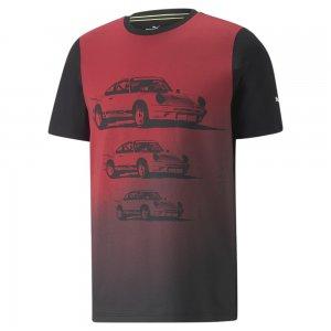Футболка Porsche Legacy FTL Graphic Mens Tee PUMA. Цвет: черный