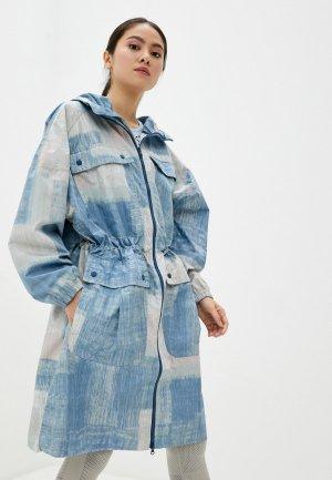 Парка adidas by Stella McCartney PARKA PRINTED. Цвет: голубой