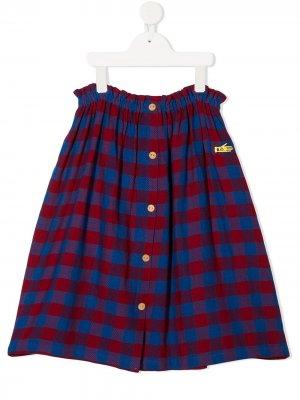 Клетчатая юбка макси Bobo Choses. Цвет: синий