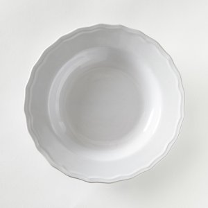 Комплект из глубоких тарелок La Redoute. Цвет: серый