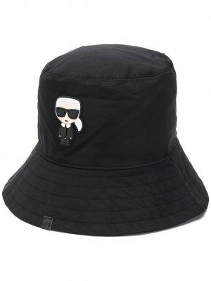 Панама с логотипом Karl Lagerfeld. Цвет: черный