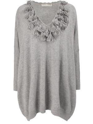 Пуловер с кистями VERONIQUE BRANQUINHO. Цвет: серый