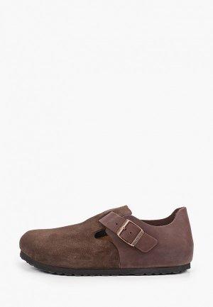 Ботинки Birkenstock London FL/VL Ebony Regular. Цвет: коричневый