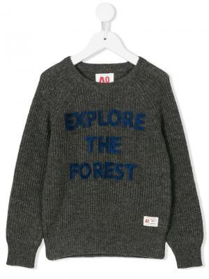 Вязаный свитер с круглым вырезом American Outfitters Kids. Цвет: серый