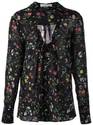 Блузка с цветочным принтом Altuzarra. Цвет: черный