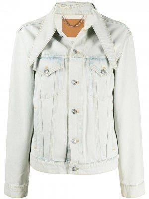 Джинсовая куртка с косым воротником Balenciaga Pre-Owned. Цвет: синий