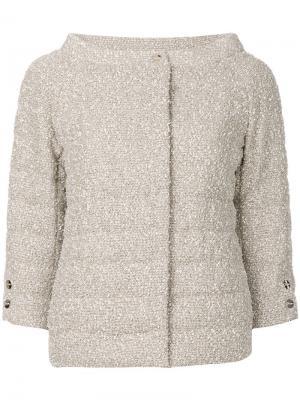 Стеганая куртка Herno. Цвет: нейтральные цвета