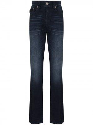 Прямые джинсы средней посадки True Religion. Цвет: синий
